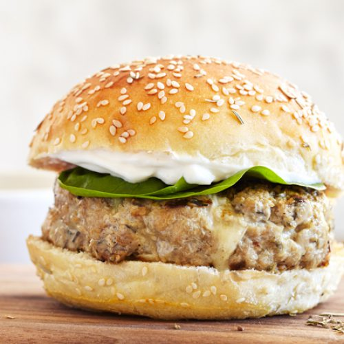 Turkey and Gruyere Burgers