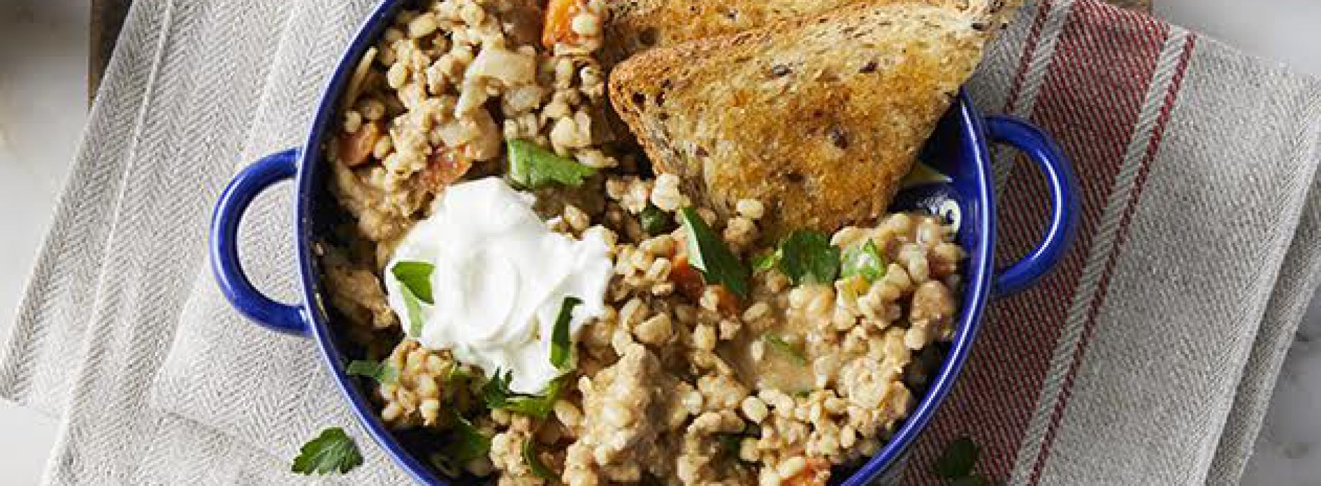 Turkey, Barley and White Bean Chili