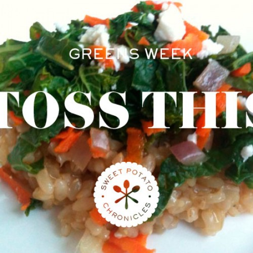 Green's week: Kale, Feta and Carrot Super Toss