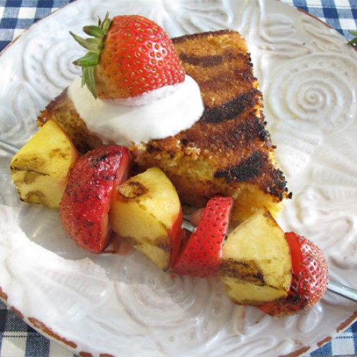 Grilled Italian Cornmeal Cake and Fruit
