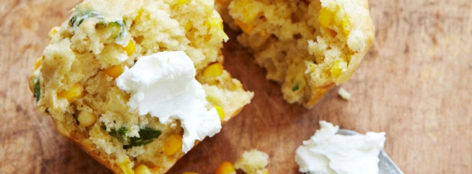 Fresh Corn and Basil Muffins