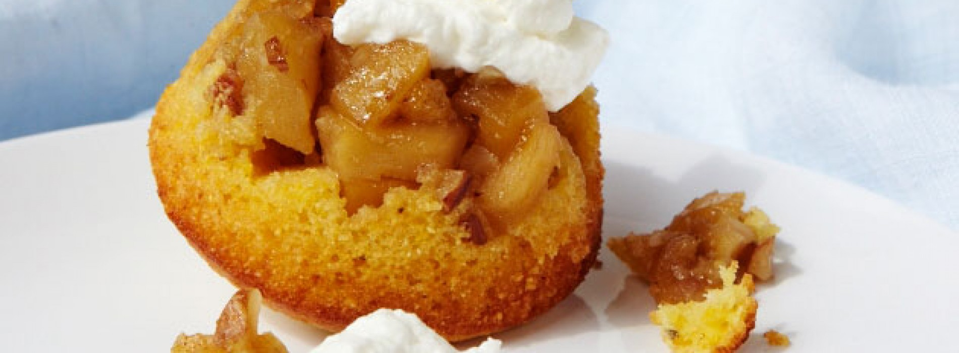 Apple Upside Down Cornmeal Cakes