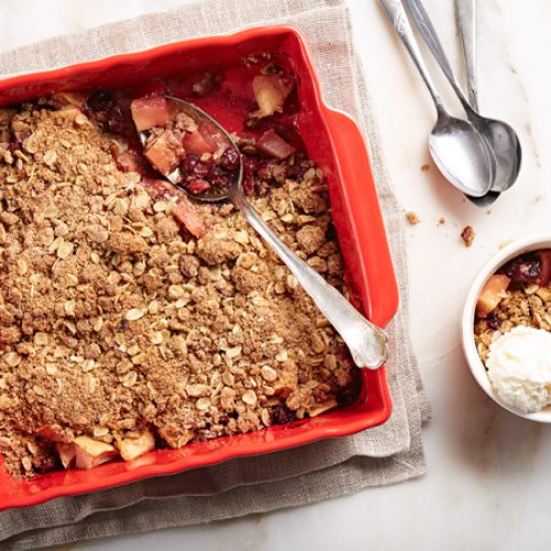 Maple Apple Cranberry Crumble