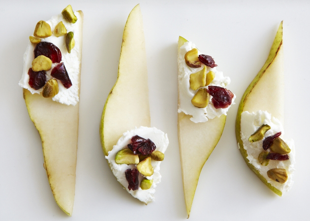 Pears with Goat Cheese and Cranberries - Sweet Potato Chronicles