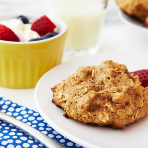 Almond Butter Banana Breakfast Cookies