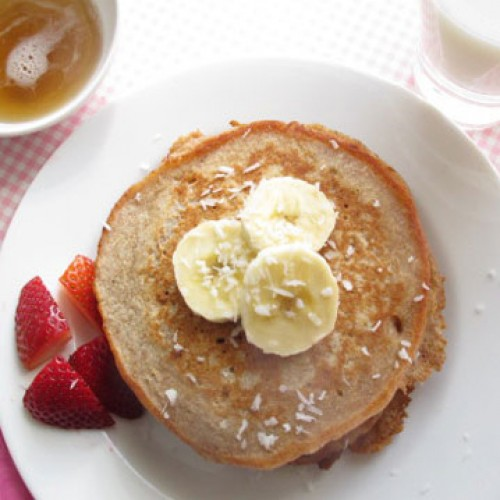 Coconut and Banana Pancakes