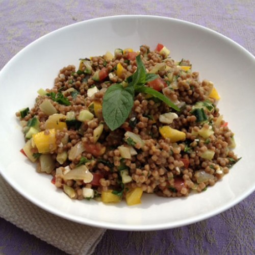 Whole Grain Israeli CousCous Pilaf