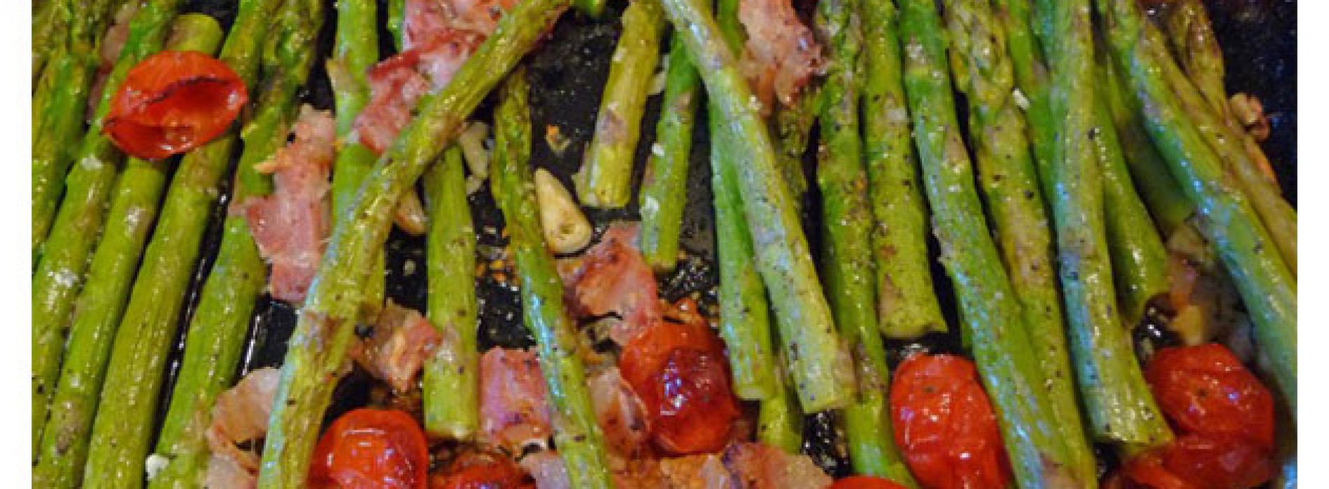 Roast Asparagus with Cherry Tomatoes and Bacon