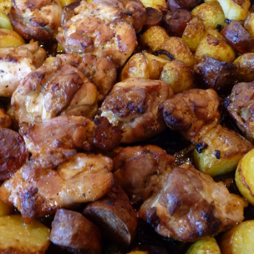 Chicken with Chorizo and Potatoes