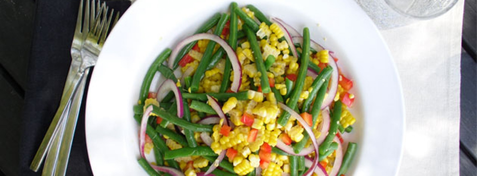 Grilled Corn and Green Bean Salad - Sweet Potato Chronicles