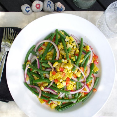 Grilled Corn and Green Bean Salad
