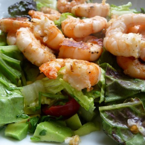 Grilled Shrimp Guacamole Salad