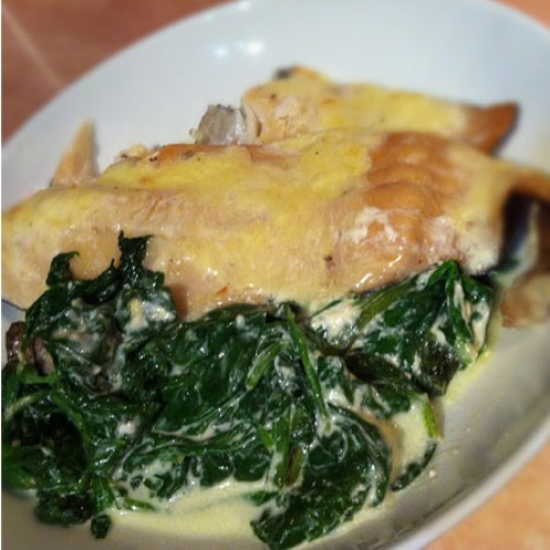 Smoked Haddock and Spinach Gratin