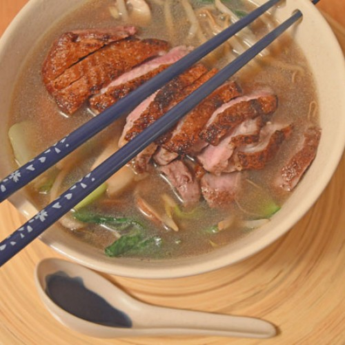 Lisa's Letters Home: Grilled Duck and Noodle Soup