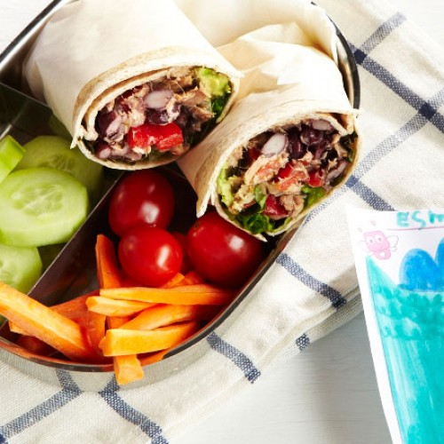 Tuna and Black Bean Wraps