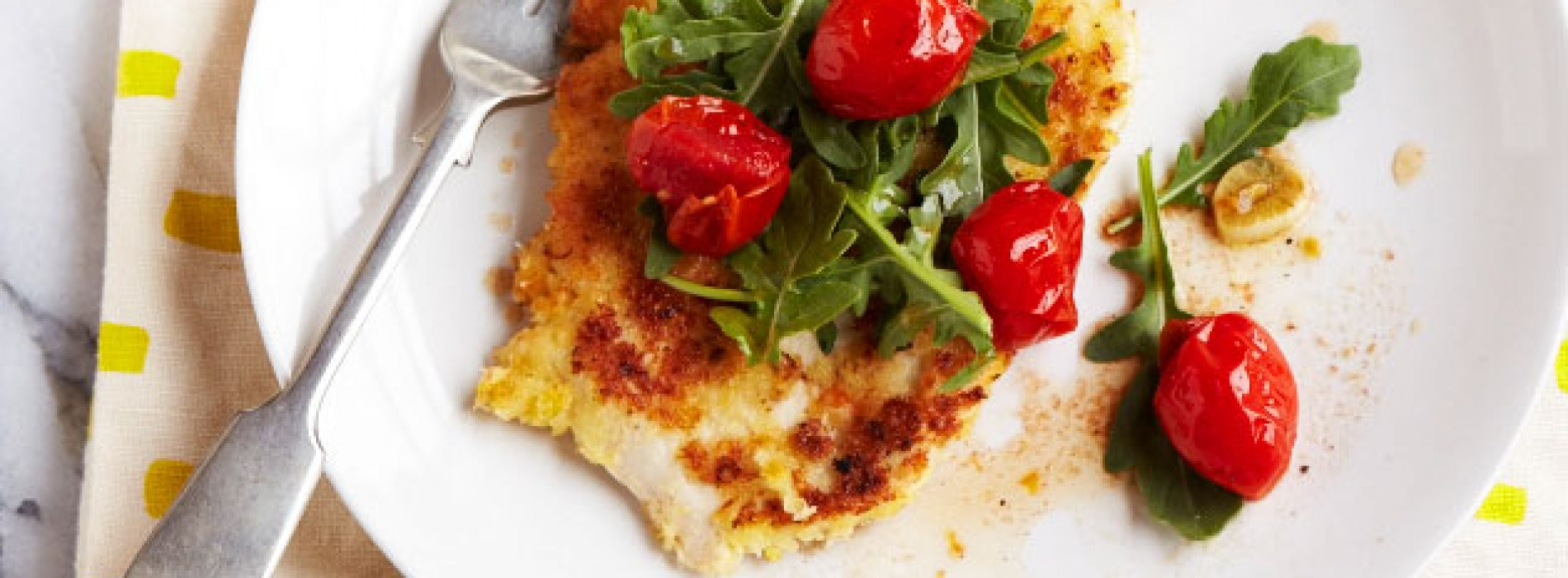 Chicken Milanese with Roasted Cherry Tomatoes