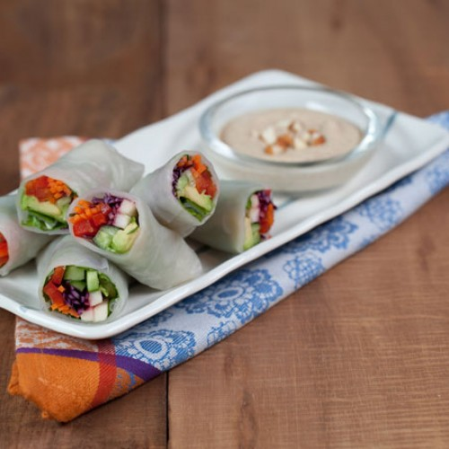 Delicious Veggie Rice Wraps and Meghan Telpner's UnDiet