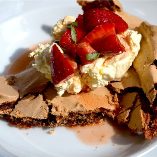 Lisa's Letters Home: Chocolate Pavlova with Balsamic Strawberries