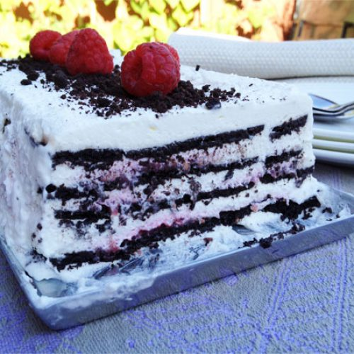 Chocolate Raspberry Ice Box Cake