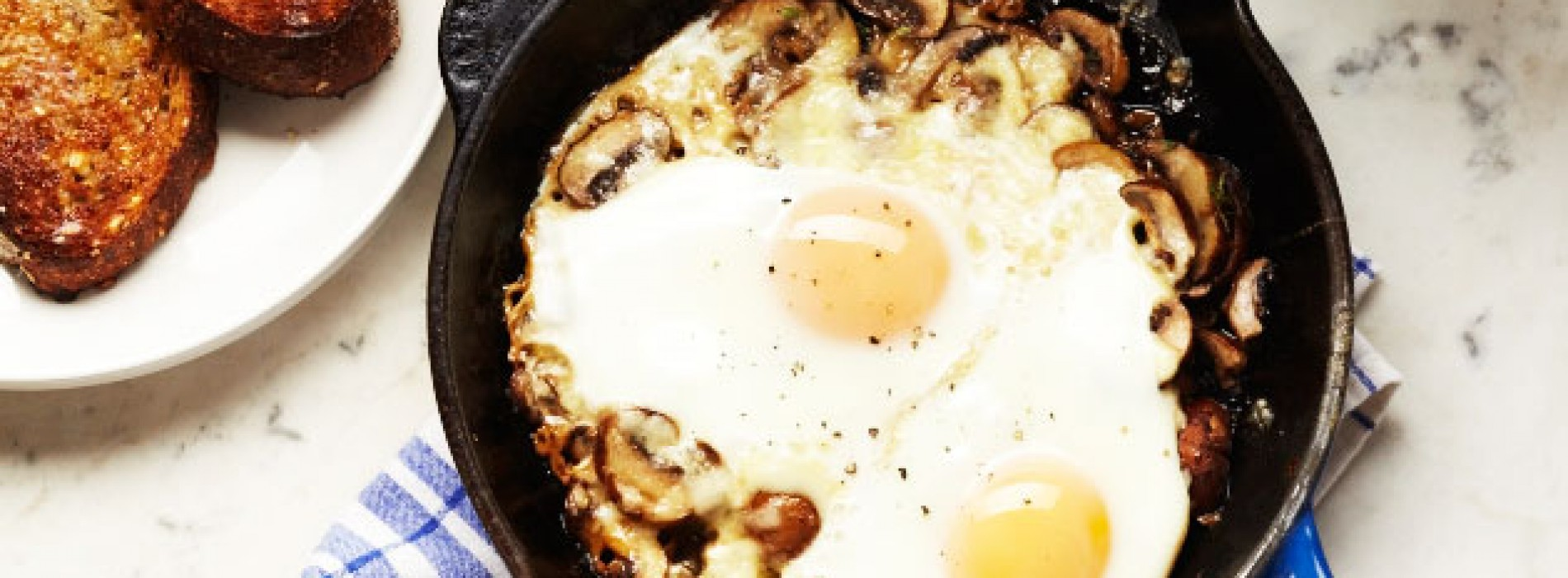 Baked Eggs with Mushrooms