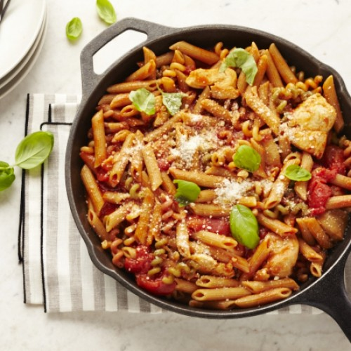One-pot Tomato Basil Chicken Pasta