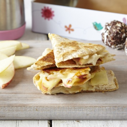 Turkey, Apple and Cheddar Quesadilla