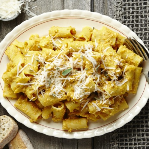 Pumpkin Pasta with Ricotta and Sage