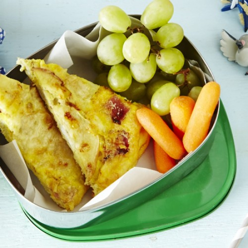 Apple, Cheese  and Bacon Frittata