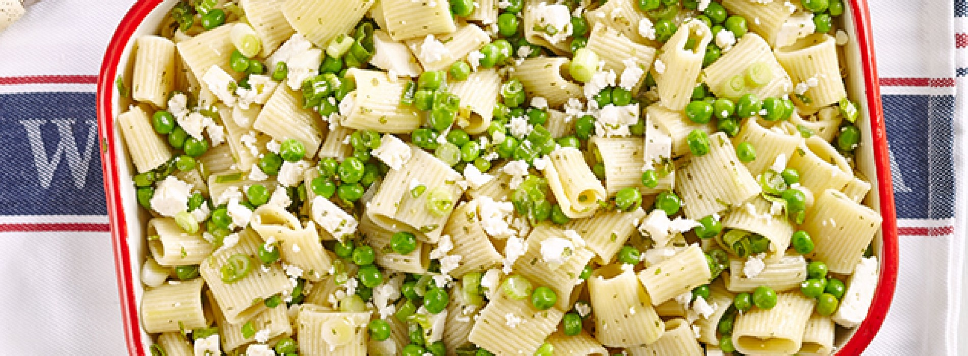 Pasta with Spring Onion and Peas