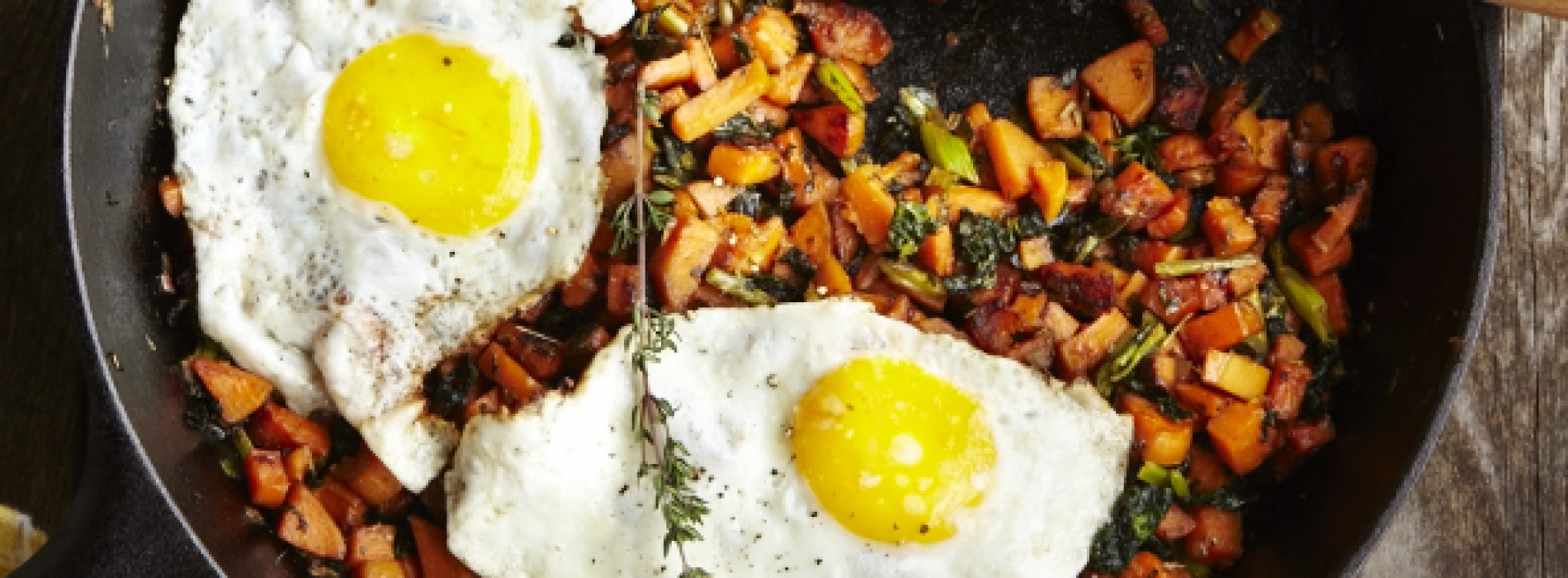 Sweet Potato & Kale Hash with Fried Eggs
