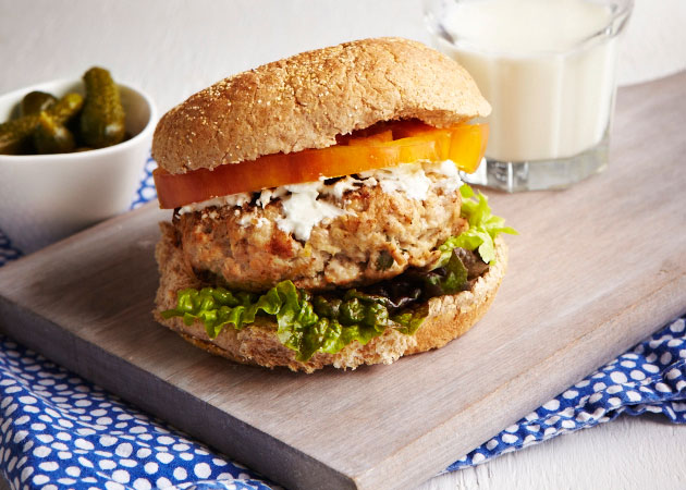 Lemon Thyme Chicken Burger