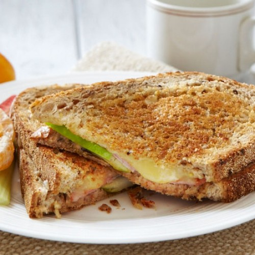 Grilled Ham, Apple and Cheese