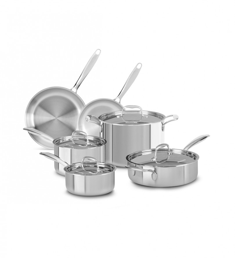 Tri-Play Stainless Steel 10-piece Set