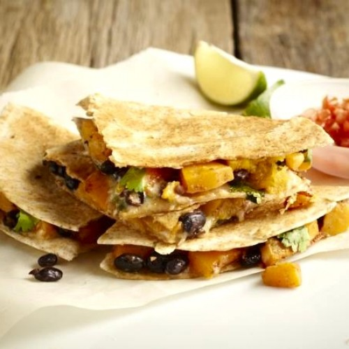 Butternut Squash and Black Bean Quesadillas