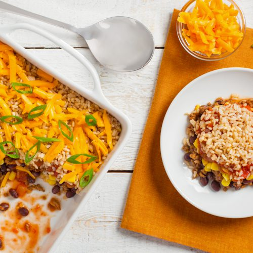 Sponsored Post: Mexican Beef and Brown Rice Bake