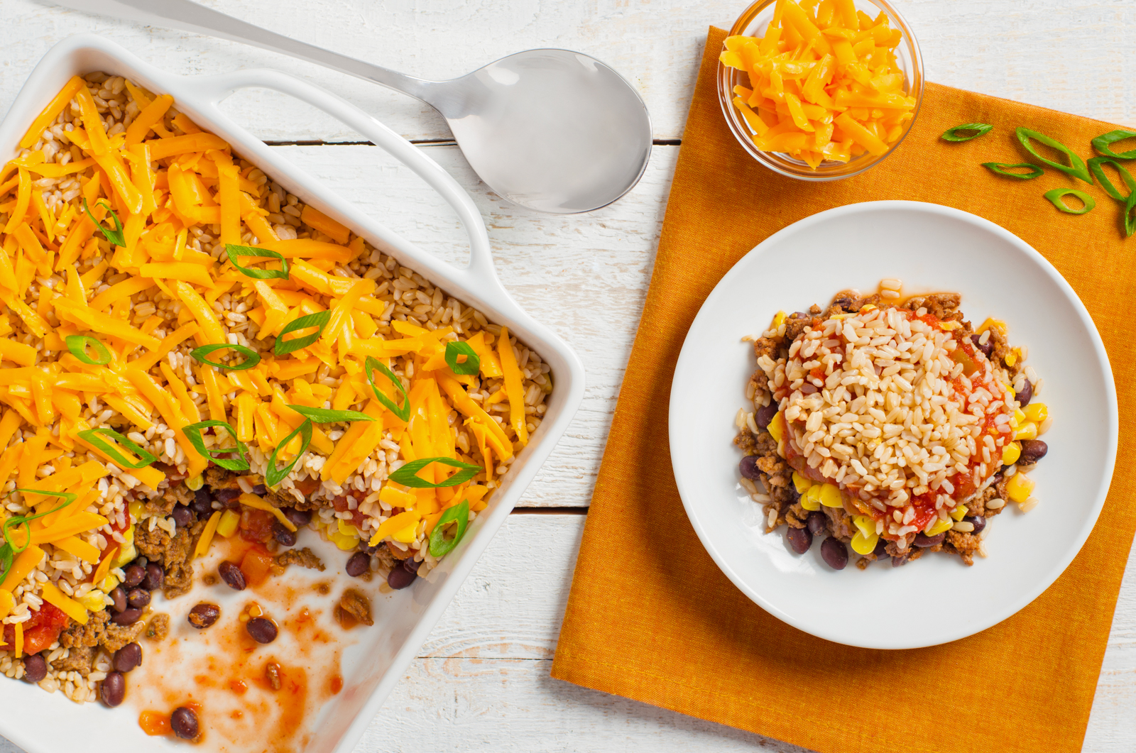 Mexican Beef and Brown Rice Bake-027