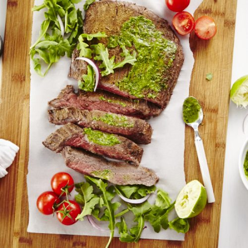 Spiced Flank Steak with Chimichurri Sauce