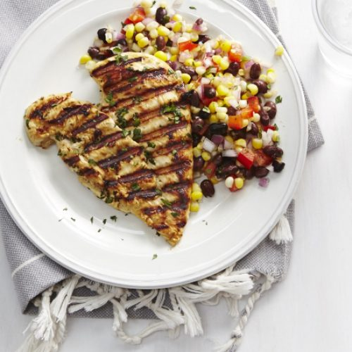 Grilled Chicken with Corn and Black Bean Salad