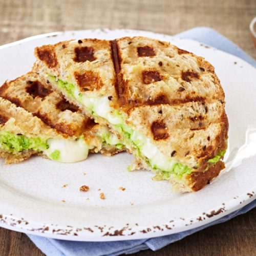 Waffled Avocado Grilled Cheese