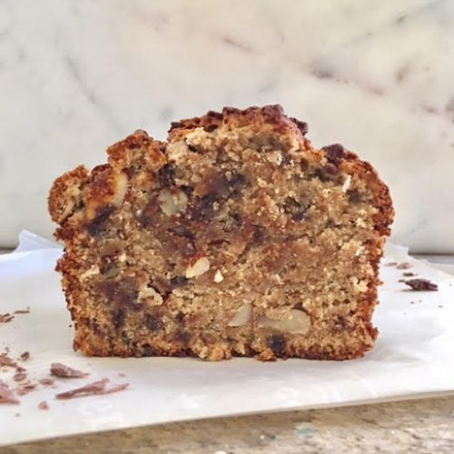 Coconut Chocolate Banana Bread