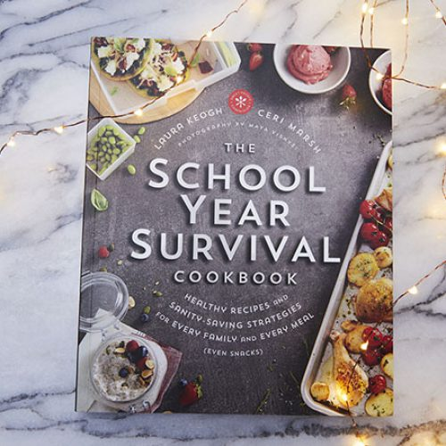 Get Healthy Recipes in The School Year Survival Cookbook. It includes Strategies, Recipes, Nutrition Shortcuts and More! Check It Out Here.