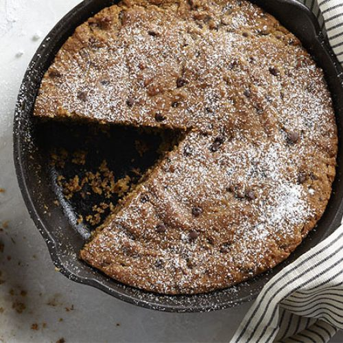 Pumpkin Chocolate Chip Skillet Cake