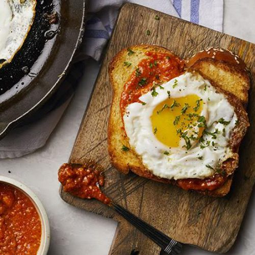 Weekday Eggs with Romesco and Toast