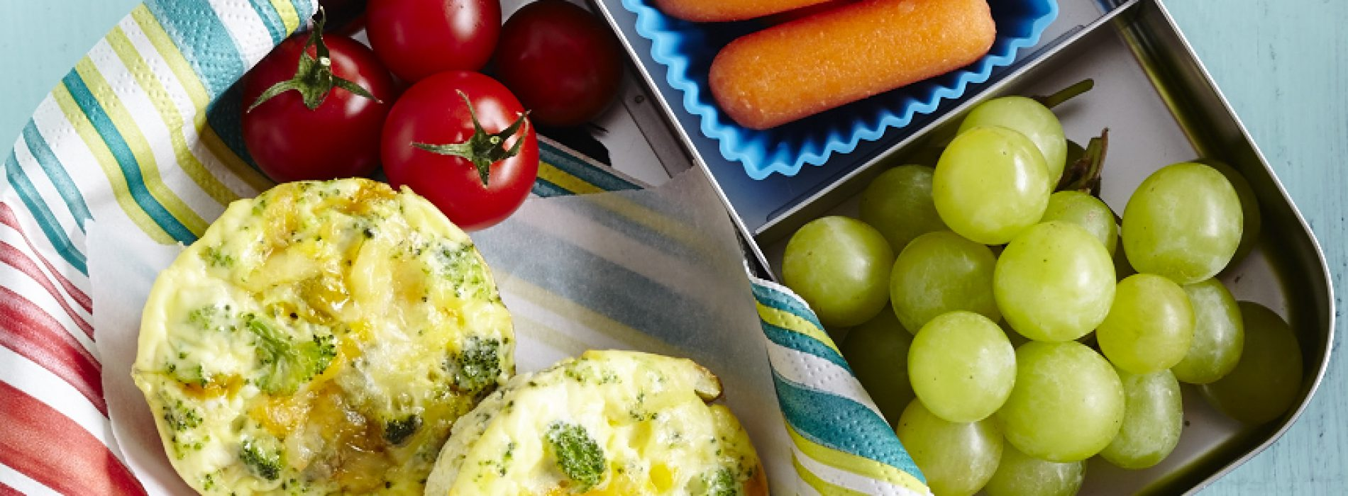 Broccoli and Cheese Mini Frittata