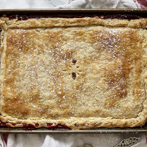 Strawberry and Rhubarb Slab Pie