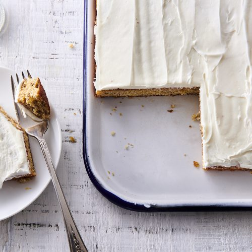 Banana Cake with Cardamom Cream Cheese Frosting