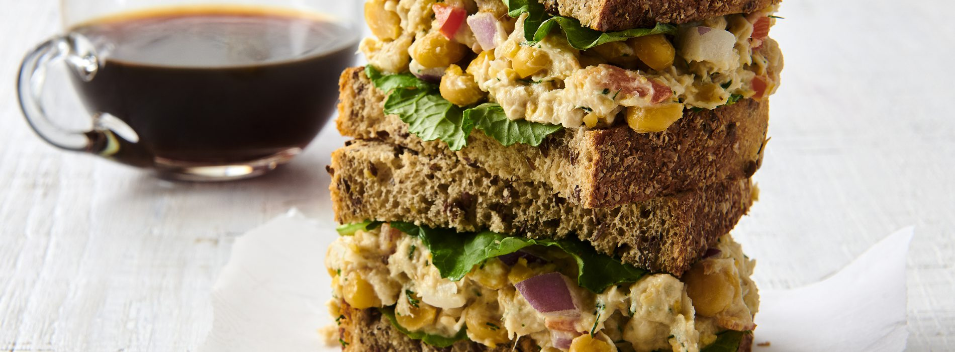 Tuna Chickpea Salad Sandwich