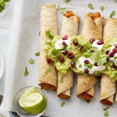 Sweet Potato Taquitos
