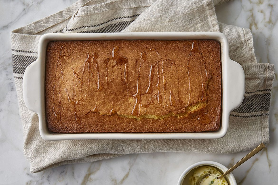 Honey Cornbread with Jalapeño and Cilantro Butter