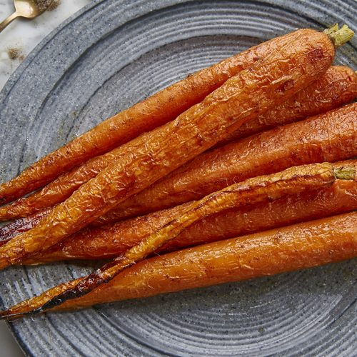 Whole Roast Carrots with Cardamom Glaze